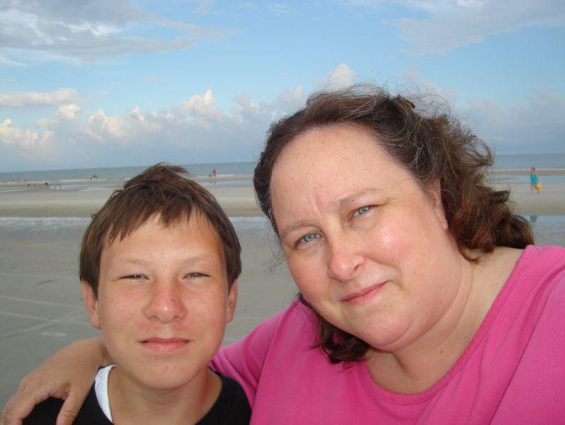 Mike Mom beach