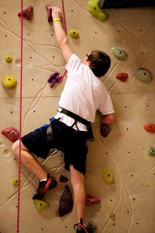 Mike climbing 2