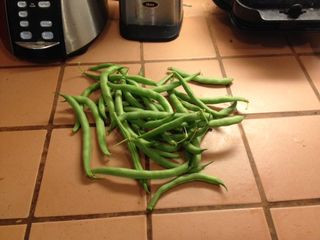 Green beans on counter