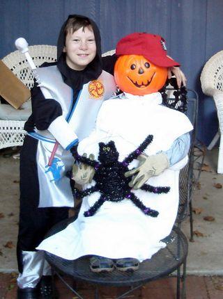Ninja and pumpkin boy