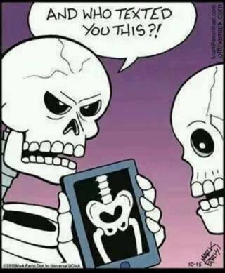 Sexting skeletons