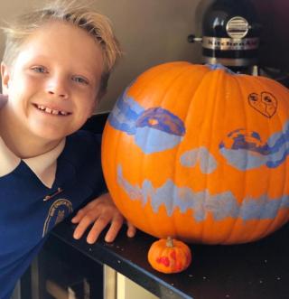 Jake and pumpkin