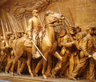 Shaw memorial detail